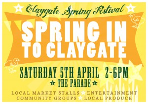 The Poster for t the Spring In To Claygate event