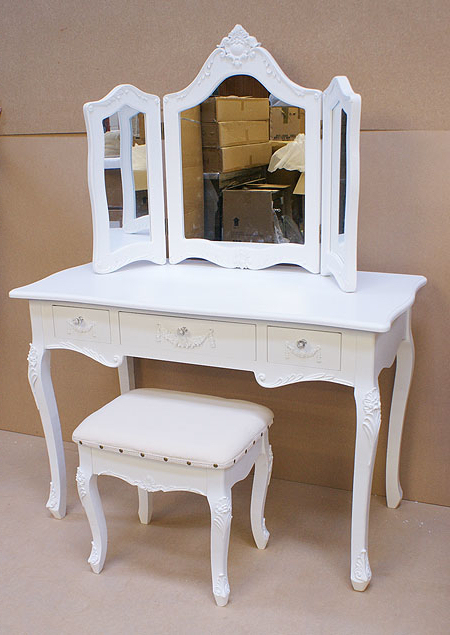 Cheap stools for dressing tables images for French white dressing table